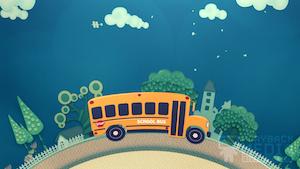 School Bus 2 Motion Background