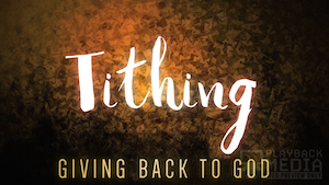 Season of Lent Tithing Motion Background