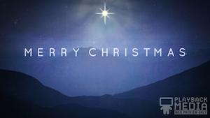 Starry Night Christmas Still Background