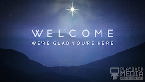 Starry Night Welcome Motion Background