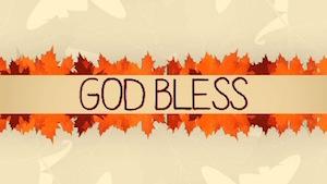 Thanksgiving Leaves God Bless Motion Background