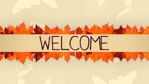 Thanksgiving Leaves Welcome Motion Background