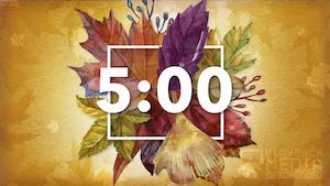 Thanksgiving Centerpiece Countdown