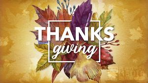 Thanksgiving Centerpiece Motion 1 Motion Background