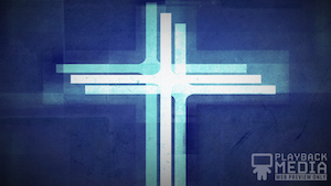 Three Crosses Blue 1 Motion Background