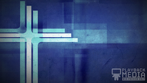 Three Crosses Blue 4 Motion Background
