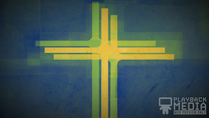 Three Crosses Green 1 Motion Background