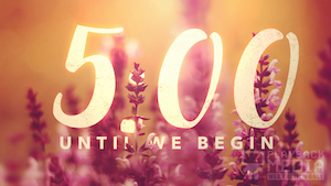 Vibrant Blooms Church Church Countdown