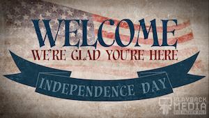 Vintage Independence Day Welcome Motion Background