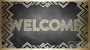 Weekend Deco Welcome Motion Background