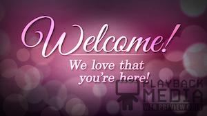 Lovely Bokeh Welcome Still Background