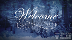 Winter Story Welcome Motion Background