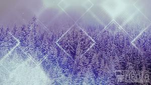 Winter Trails 2 Purple Still Background