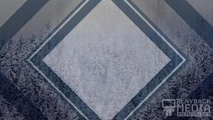Winter Trails Blue Still Background