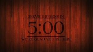 Wood Grain church Countdown