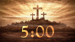 Wood Grain Sunrise Church Countdown