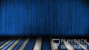 Wooden Dance Floor Blue Still Background