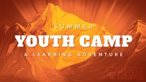 youth camp mountain motion background