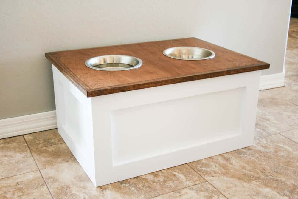 Beau Diy Dog Food Station With Storage