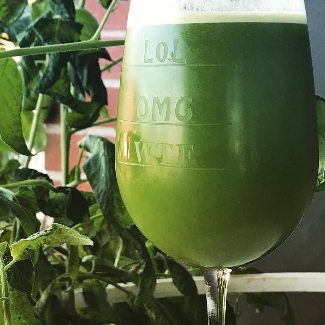 Celery, Cucumber, Green Apple, & Kale Juice