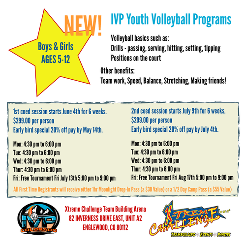 2018 IVP Youth Volleyball Program - Fall/Second Session