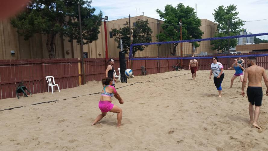 Session 5 '18 - Tuesday Sand Coed 4's Volleyball League at EP