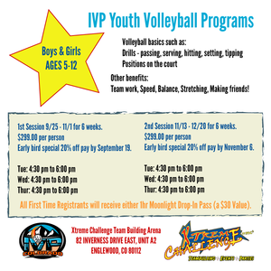 2018 IVP Youth Volleyball Program - Fall 1st & 2nd Session