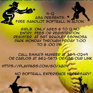 Softball Training Free !