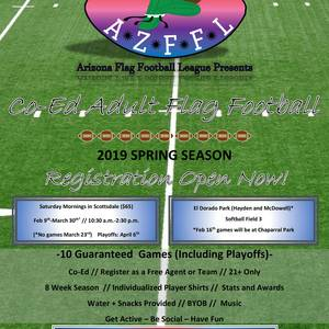 2019 AZFFL Spring Season Registration