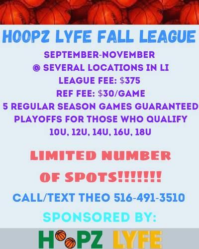 Hoopz Lyfe Fall League Team Registration