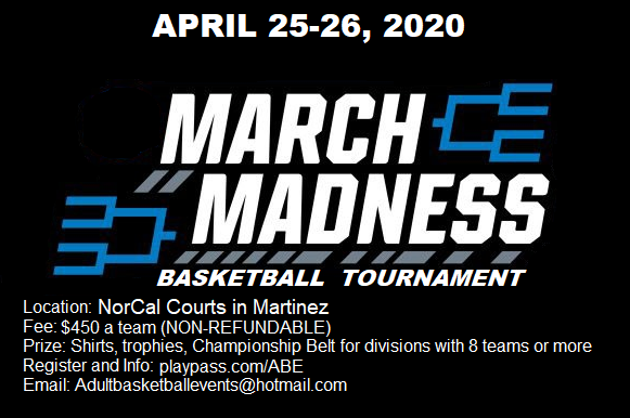 Madness in April Basketball Tournament 2020