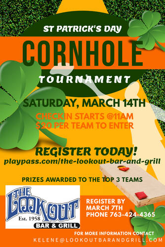 St. Patrick's Day Cornhole Tournament