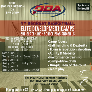 Ty BeGreat Elite Basketball Development Camps