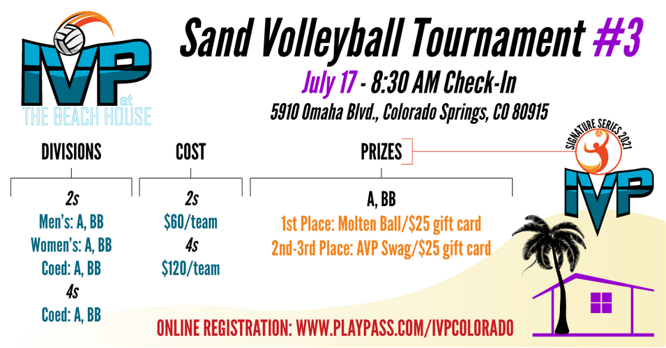 2021 IVP at the Beach House Tournament #3 - ALL SAND