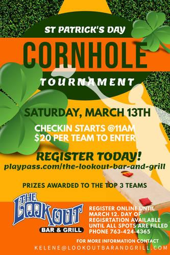 St. Patrick's Day Cornhole Tournament 2021
