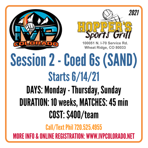 Hopper's Sand Volleyball Leagues - Session 2 2021