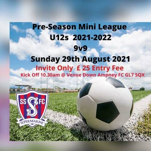 U12s Pre Season Mini League 9v9 2021/2022