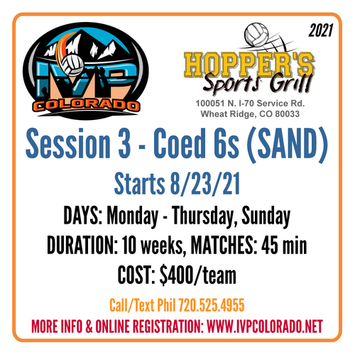 Hopper's Sand Volleyball Leagues - Session 3 2021