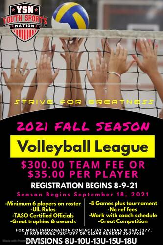 Youth Sports Nation Youth Volleyball League