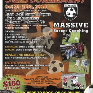 Halloween 3v3 Soccer Tournament - October 29, 2016