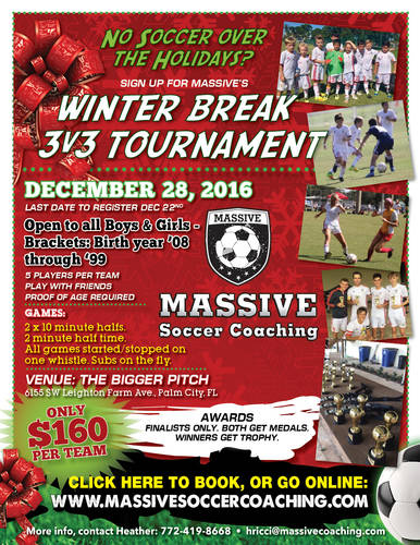 3v3 WINTER BREAK SOCCER TOURNAMENT