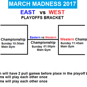 March Madness Basketball Tournament Men's Asian National 2017