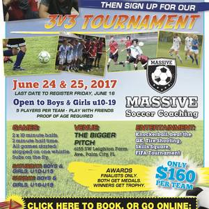 3v3 Summer Soccer Tournament - June 24 & 25, 2017