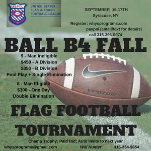 ADULT FLAG FOOTBALL TOURNAMENT