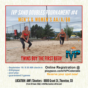 IVP Sand Volleyball Tournament #4