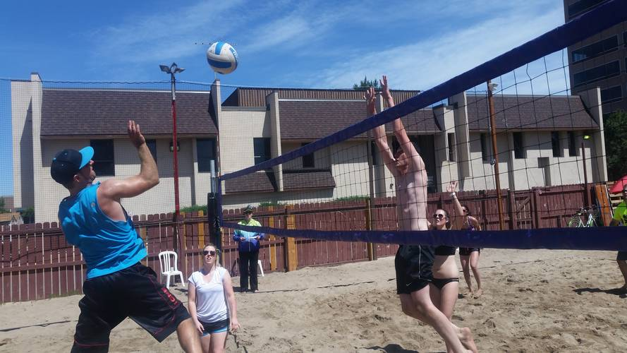 Session 3 '18 - Thursday Sand Coed 4's Volleyball League at EP