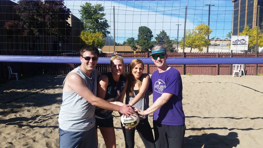 Session 3 '18 - Monday Sand Coed 4's Volleyball League at Dive