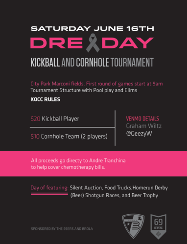 "Dre""y""-Day Kickball Tournament (click to register)"