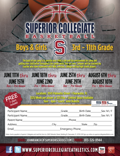 Superior Collegiate Basketball Camp