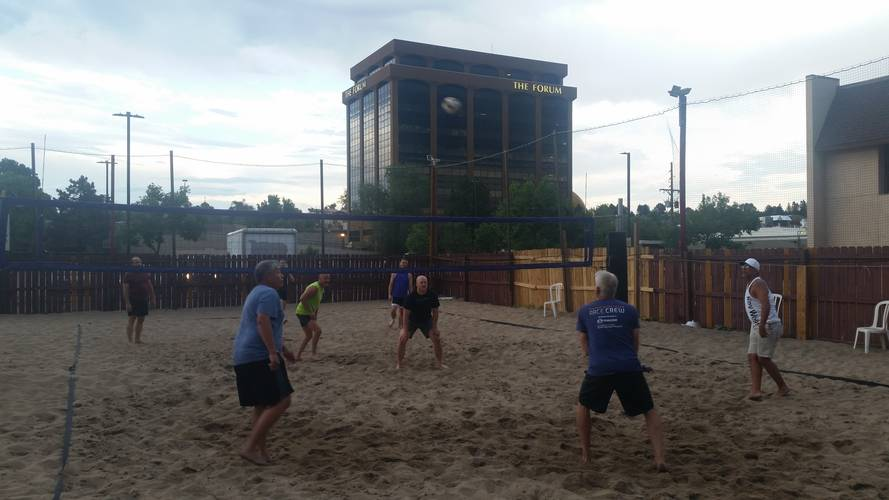 Session 4 '18 - Tuesday Sand Men's 4's Volleyball League at EP